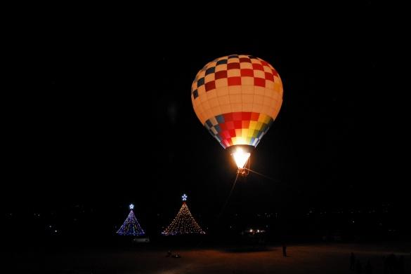 夜の熱気球
